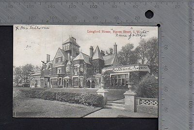 Isle of Wight - Longford House Haven Street 1906 - Pub R.F.Huuger