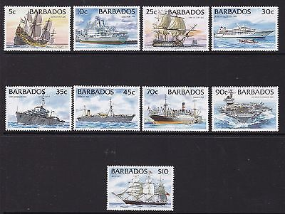 Barbados 1994-98 Ships With Imprint Set, Unmounted Mint, Cat £14