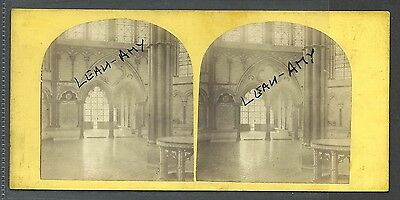 Original Early Stereoview Of Salisbury Cathedral, The Chapter House.