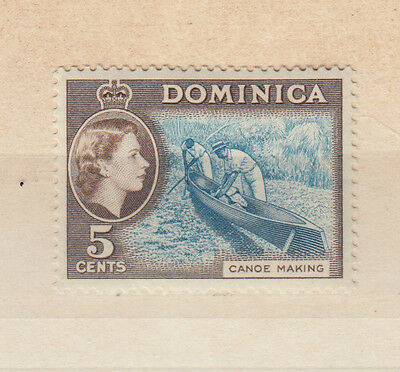 A very nice mint Dominica QE2 5 Cents Light Blue & Brown issue