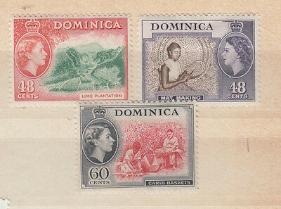 Three very nice mint Dominica QE2 issues