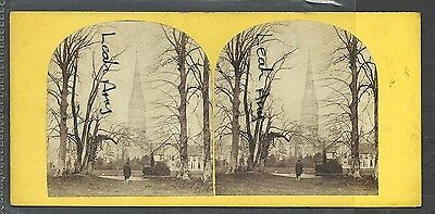 Original Early Stereoview Of Salisbury Cathedral, From The Bishops Grounds.