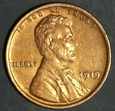 1919  Lincoln Wheat Cent Grade Au  *as Pictured*   Inv 330