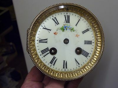 Antique French Clock Striking Movement & Ornate Dial  (Pr)