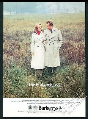 1978 Burberrys trench coat Lady Annunziata Asquith Lord Normanton Lichfield ad