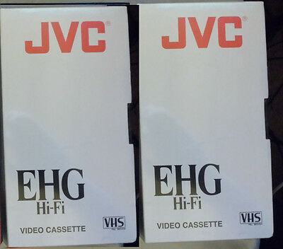 NEW Two JVC EHG HiFi quality 240 VHS Video Tape (sealed)
