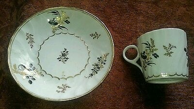 LATE 18th/EARLY 19th CENTURY ANTIQUE PORCELAIN COFFEE CAN & SAUCER