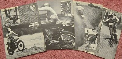 1975 Honda CR250 M1 Elisnore Motorcycle Original 7 page cycle test with specs