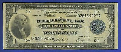 1918 $1 LARGE *CLEVELAND* Federal Reserve Bank Note!
