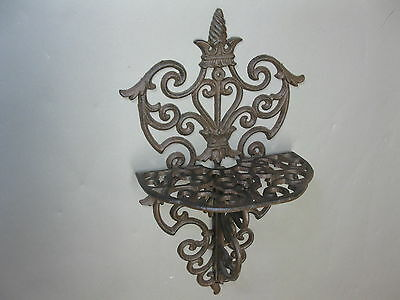 Wall console Cast iron Gothic Medieval shabby chic 40cm x 24cm