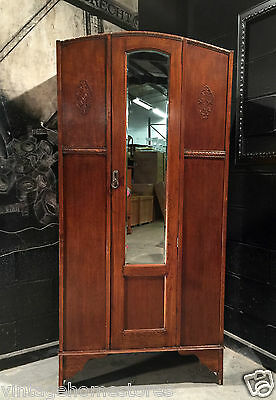 Can Deliver: Vintage Retro Antique Style Oak Wardrobe Robe Armoire Shabby Chic