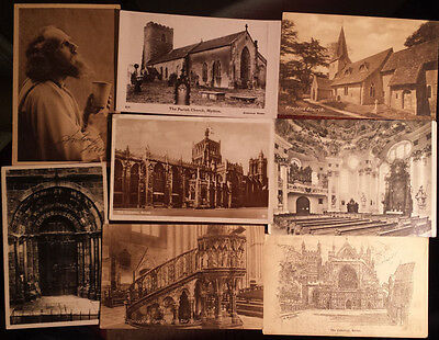25 Religious postcards bulk lot, some stamped 1930~1939