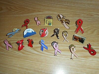 Set of 18 assorted pins for tie, hat, or shirt.