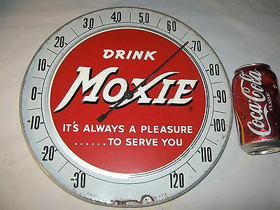 Vintage Usa Moxie Soda Art Advertising Thermometer Sign Non Porcelain Metal Beer