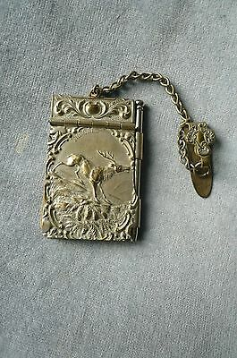 """Edwardian Silver Plated Chatelaine Aide Memoire - Hunting Interest - """"the Call"""""""