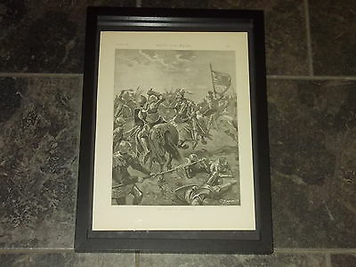 The battle of Tewkesbury-1891 Original poster sized print framed
