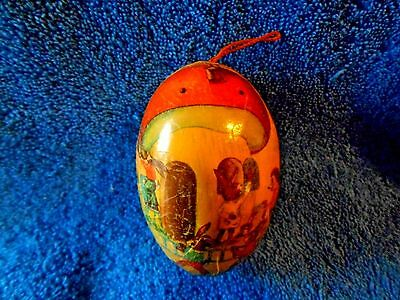 Antique Easter Egg Made In Germany With Rabbits And Hedgehogs Very Nice