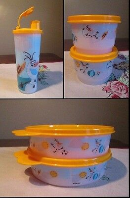 Tupperware NEW Frozen OLAF Summer  PICK a SET Snack Cups Tumbler Big Wonders