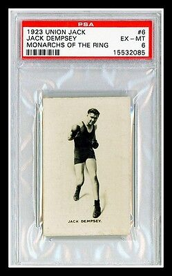 PSA 6 JACK DEMPSEY #6 1923 Union Jack Monarchs of the Ring BOXING CARD Free SHIP