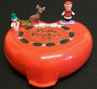 Vintage Polly Pocket - Musical Christmas Compact, 100% Complete, 1989.
