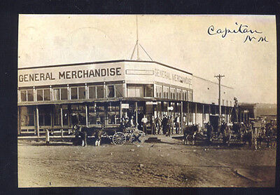 Real Photo Capitan New Mexico Downtown Street Scene Store Postcard Copy