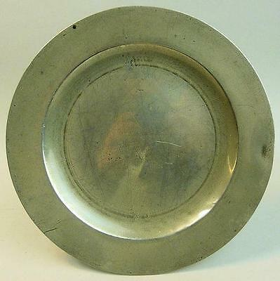 ANTIQUE PEWTER PLATE LONDON TOUCH MARKS 18th CENTURY