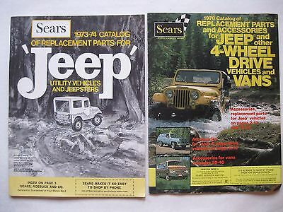 Vintage Sears Jeep and Van Parts Catalogs 1973-74 and 1978 Lot of 2