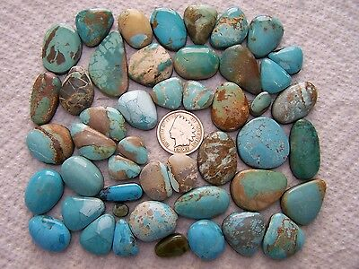 47 Mixed Turquoise Cabs 500 carats Blue Green White Cabochons Wholesale Lot
