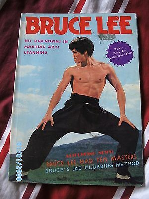 Bruce lee his unknowns in martial arts learning magazine/book