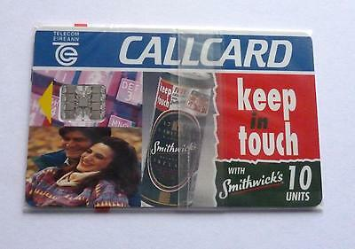 Keep Intouch With Smithwicks  / Irish Telecom Mint Sealed  Phonecard