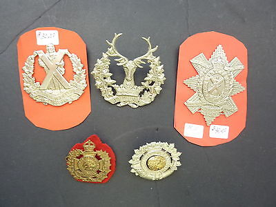 Five WWII Canadian Cap Badges (6)