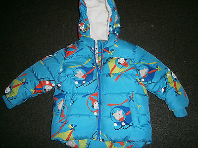 """Cosy """"next"""" 6-9M Boys  Fully Lined Plane Motif Hooded Coat"""