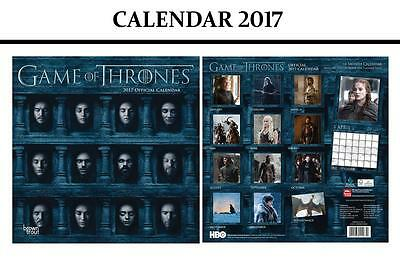 Game Of Thrones Official Calendar 2017 + Game Of Thrones Fridge Magnet