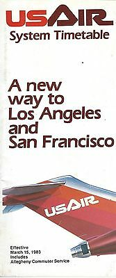 Airline Timetable - US Air - 15/03/83