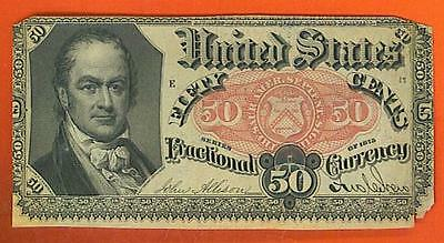 5th Issue 50¢ William Crawford U.S. Fractional.