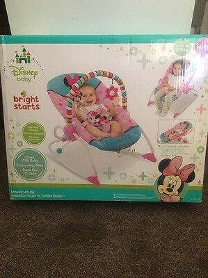 Newborn Baby Swing Seat Infant Toddler Rocker Comfort Chair Minnie Mouse
