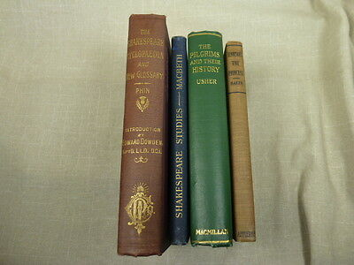 Lot of 4 Early 1900s Vintage Books 1st Editions ? The Pilgrims and their History