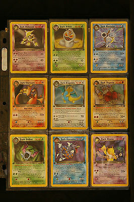 1st Edition Team Rocket Complete Pokemon 83 Card Set All Cards NM - Never Played