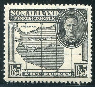 HERRICKSTAMP Somaliland Protectorate Sc.# 107 KGVI Map High Value Mint NH