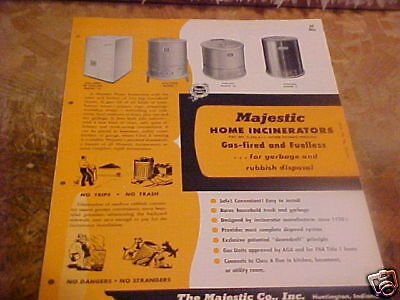 1955 Architect Sweets Catalog Brochure Home Incinerator
