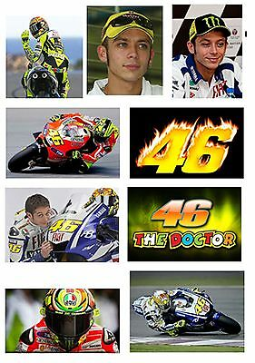 Valentino Rossi 9 Different Fridge Magnets Thin Flexible Birthday Free Uk P&p
