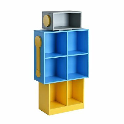 Unique Simple Bookshelf Robot Design Storage Book Rack Multifunction Bookcase