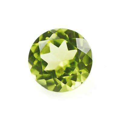 A PAIR OF 5mm ROUND-FACET STRONG-GREEN NATURAL AFGHAN PERIDOT GEMSTONES £1 NR!