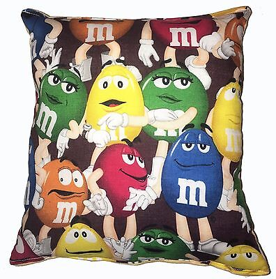 M&M Pillow M&M People Candy Pillow Hershey Pillow HANDMADE in USA
