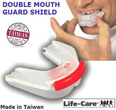 DOUBLE MOUTH GUARD SHIELD (Size: 6*5.5*3.2cm For Woman or Man) Made Taiwan/P