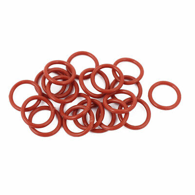 20pcs 1.5mm Thick Heat Oil Resistant Mini O-Ring Rubber Sealing Ring 12mm OD Red