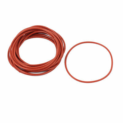 15pcs 1.5mm Thick Heat Oil Resistant Mini O-Ring Rubber Sealing Ring 25mm OD Red