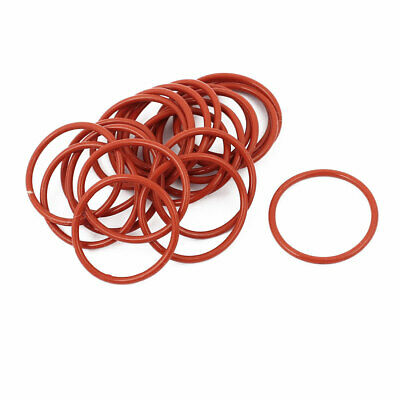 20pcs 1.5mm Thick Heat Oil Resistant Mini O-Ring Rubber Sealing Ring 22mm OD Red