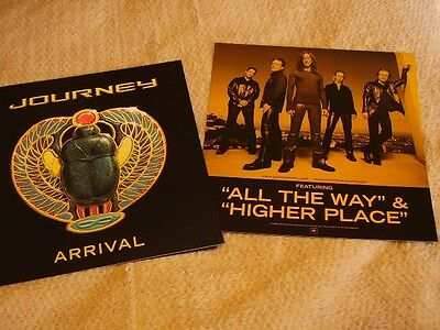 Journey *FOUR Two-Sided 2001 Arrival Cardboard Promo Poster Flats!