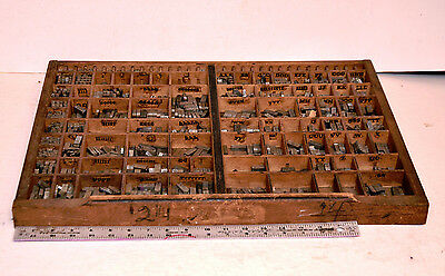 Divided Drawer Letterpress Printing Printer Type Size 24 Full